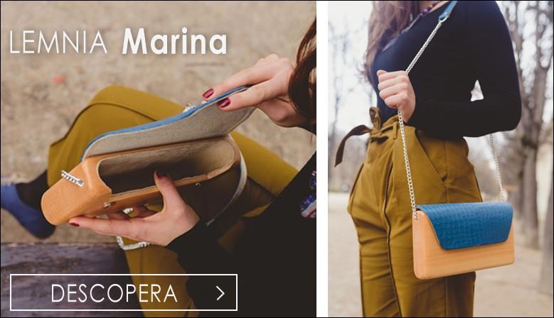 Descopera Geanta Lemnia Marina